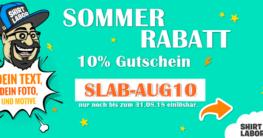 10% Sommer Rabatt bei Shirtlabor