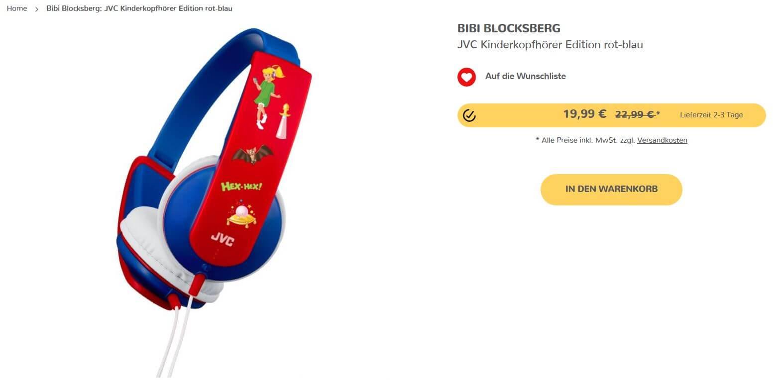 Kiddnix Bibi Blocksberg Kopfhörer