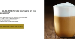 SHELL Starbucks Cappuccino to Go gratis