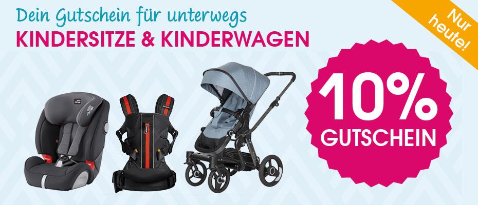 babymarkt Gutschein - 10% auf Kindersitze und Kinderwagen
