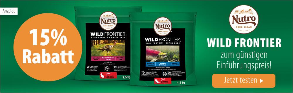 zooplus - 15% Rabatt auf Nutro Wild Frontier Hunde- und Katzenfutter